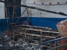 Locaux dégradés de la MJCSC dans les quartiers sud de Brazzaville.