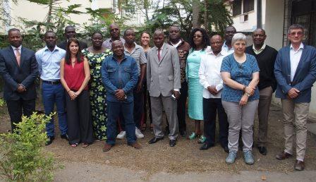 Les membres du comité de pilotage du PCPA Congo