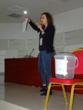 dépouillement es votes avec l'aide de l'interPCPA Alégrie