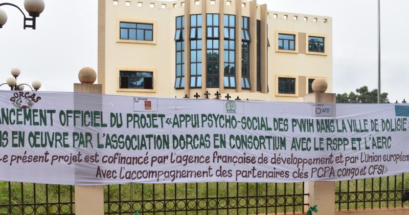 Banderole lancement projet DORCAS-IEDDH- PCPA Congo