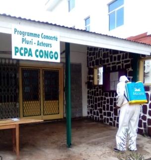 desinfection des locaux pcpa congo